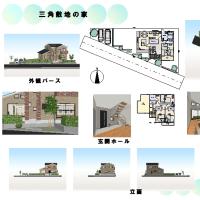 『三角敷地の家』を考えてみました。