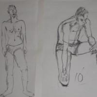 クロッキー(5)(B3)チャコール鉛筆