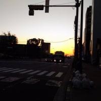 朝まずめの風景