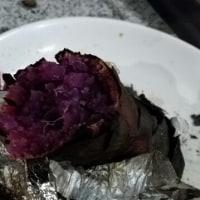 焼き芋焼けました。