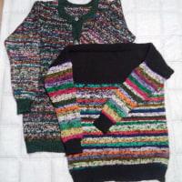 リサイクル毛糸のセーター