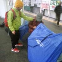 寒風ふくなか泉佐野の文福まで「カキお好み焼き」ポタ!