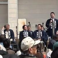 西川桜まつり2017は春の嵐が吹き荒れ、ステージも大荒れ、桜は満開♪