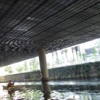 うねりの城ヶ島、神田川の工事