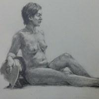 裸婦デッサン手直し