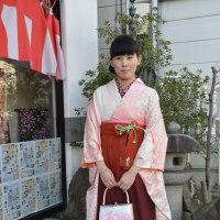 卒業式シーズンです。袴のお着付しました③