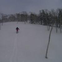 山にスキー