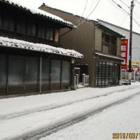朝起きてびっくり 春の積雪   160312(土)