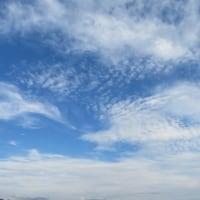 合間の晴れ 雲がいろいろ
