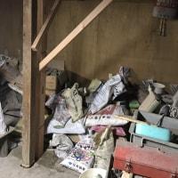 岡山市南区大福の長屋棟にて柱の緊急補強工事