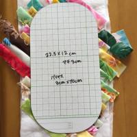 ハワイアンプレスドキルト☆ポーチの型紙の作り方