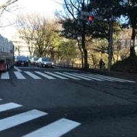 名古屋市中区の外堀通りを走って