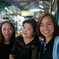 バンコクに住む、嫁の学生時代の友人達と同窓会。