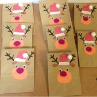 クリスマス  手作りプレゼント袋