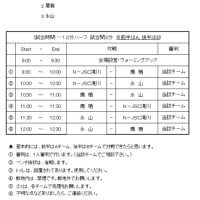 5月20日(土) 新十津川練習試合 タイムスケジュール