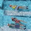 3・4年生が着衣泳をしました。
