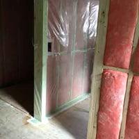 【2×4床断熱住宅での室内側気密化施工】