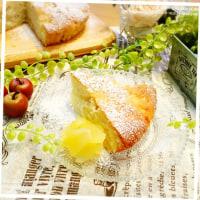 *りんごのクリームケーキ*