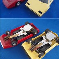 ニチモ(日本模型)のスロットカー、ランボルギーニカウンタック+フェラーリBB