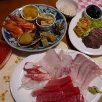 12月31日の夕食と新年の朝食。