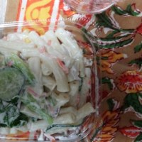 三種レタス野菜マカロニサラダ