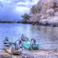 冬 小さな漁港、ポンマ漁港に癒されて