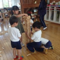 土曜日保育 異年齢児 カプラ大会