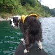 カヤック漕いで、水遊び~♪