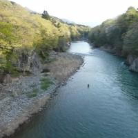 今朝の鬼怒川(小佐越~高徳)とダンナの釣りの結果