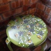 椅子にデコパージュ
