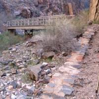 グランドキャニオン谷底往復;第4日目(2);トレッキング2日目(2);ブライトエンジェル川を遡る