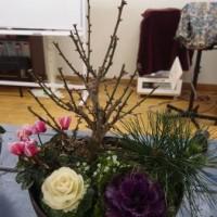 お正月の寄せ植え講習会 ラストです。