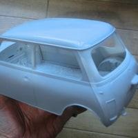 1/12 タミヤ ローバーミニ10インチドレスアップ3Dパーツ ミニマーク3仕様製作開始
