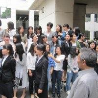 恒例の「卒業記念写真」撮影