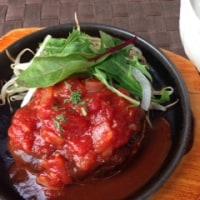 自家製トマトケチャップハンバーグ!!