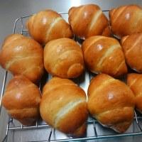 夜にパン作り