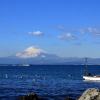 森戸海岸からの富士山