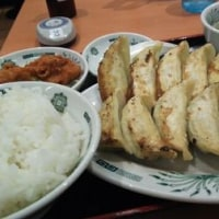 日高屋 京成津田沼店 ダブル餃子定食 と 中華そば