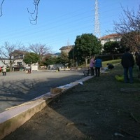 公園清掃の季節