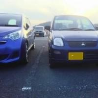 最近は一般的な軽自動車が減ってきました、みんな背の高い車両を買う時代です。
