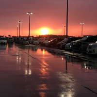 雷雨の落陽