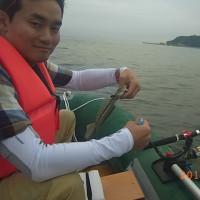 2016手漕ぎボートの釣り(6漕ぎ目-ポセイドン1発進)