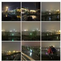 武漢の夜景。とても綺麗でした。この時は雨が降っていましたので、お天気の良い時にゆっくりと見たいですね。