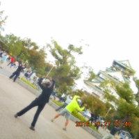 大阪城へ NHK 朝のラジオ体操参加 300名確認
