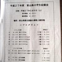 小学生記録会のタイムテーブル(参考)