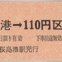 桜島港駅のJRバス硬券