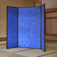 銀閣寺へ唐紙奉納 トトアキヒコの青と白の世界