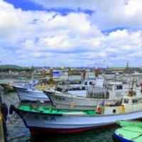 沖縄県沖縄市☆泡瀬魚港の風景 (*^_^*)