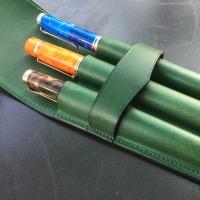 ル・ボナー 3本挿し絞りペンケース