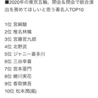 東京五輪の総合演出 最も相応しいクリエイターTOP10
